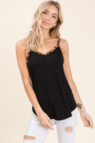 Black Leopard Trim Tank