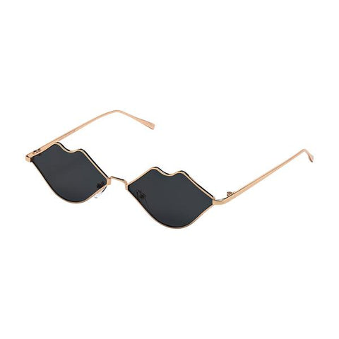 Gold Blue Planet Lip Sunglasses
