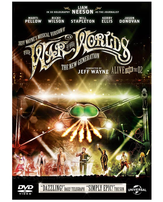 Jeff Wayne's Musical Version Of The War Of The Worlds - The New Generation - Alive From The O2! DVD