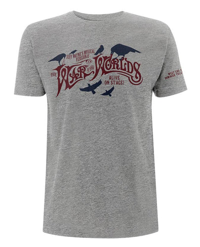 Jeff Wayne's Musical Version Of The War Of The Worlds - Birds Grey Marl T-Shirt