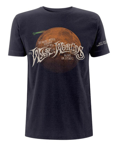 Jeff Wayne's Musical Version Of The War Of The Worlds - Mars Navy T-Shirt