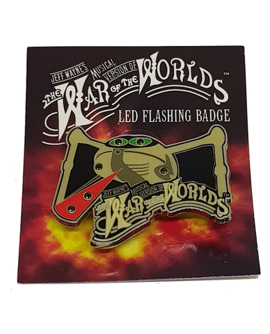 Jeff Wayne's Musical Version Of The War Of The Worlds - L.E.D Badge
