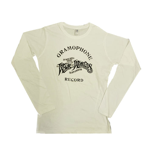Gramaphone Record and Logo - Ladies Long Sleeve