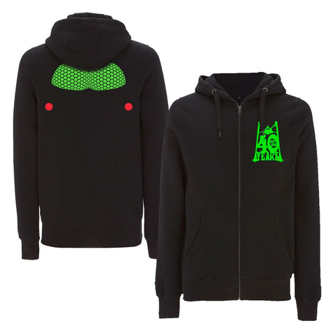 'Anniversary' Black Zipped Hoody