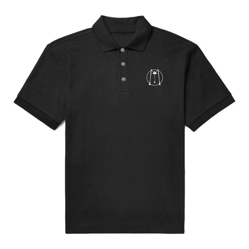 'MFM' Black Polo Shirt