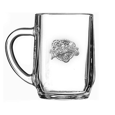 'Steampunk Cogs' Glass Tankard