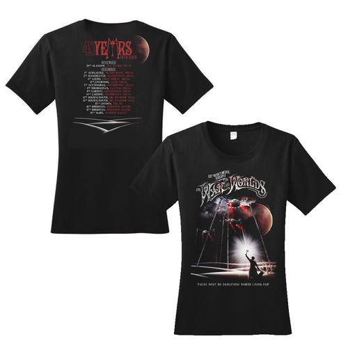 'Spirit of Man' Women's Black Tour T-Shirt