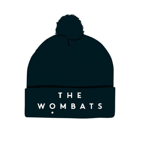 The Wombats Logo Bobble Hat (Black)