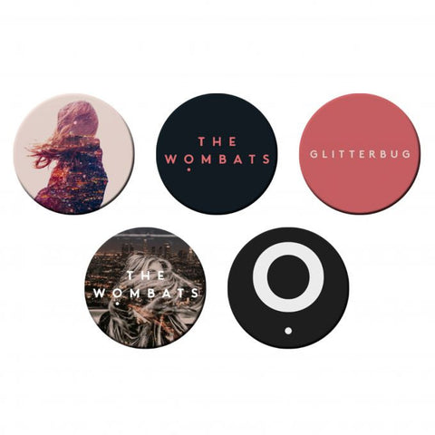 The Wombats Set Of 5 Badge Set