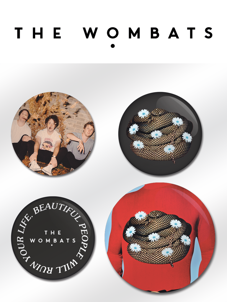 The Wombats (Beautiful People) Badge Set