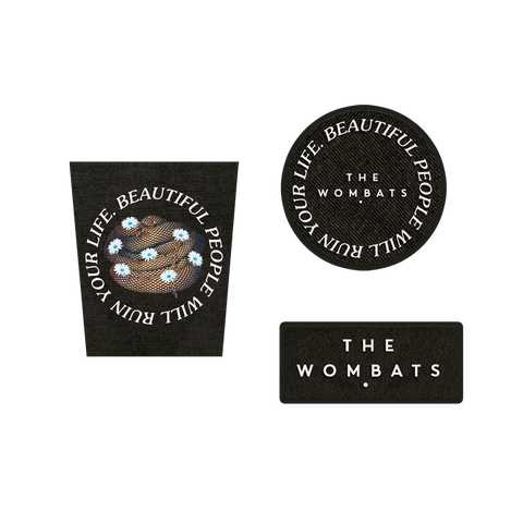 The Wombats (Beautiful People) Patch Set