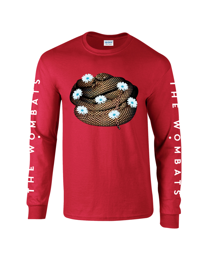 The Wombats (Flower Snake) Red Long Sleeve Shirt