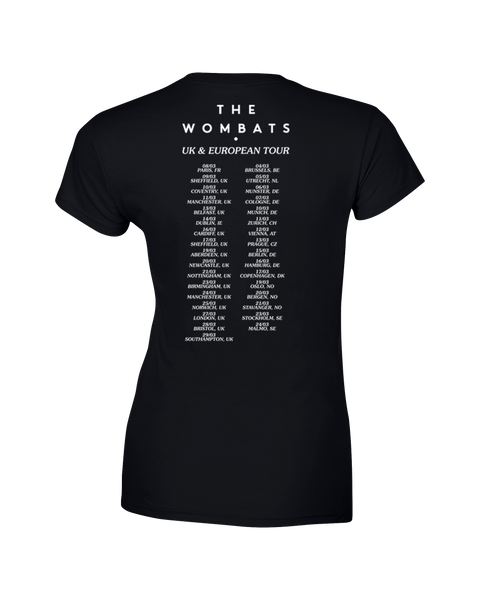 The Wombats (Beautiful People Tour) Black Ladies T-Shirt