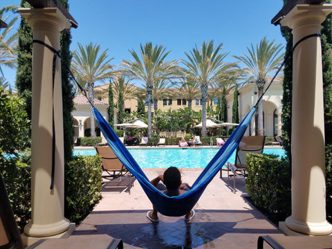 Aria 2 Hammock by the pool