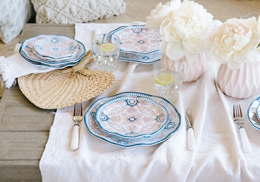 Soft and Neutral Table Setting | Q Squared Melamine