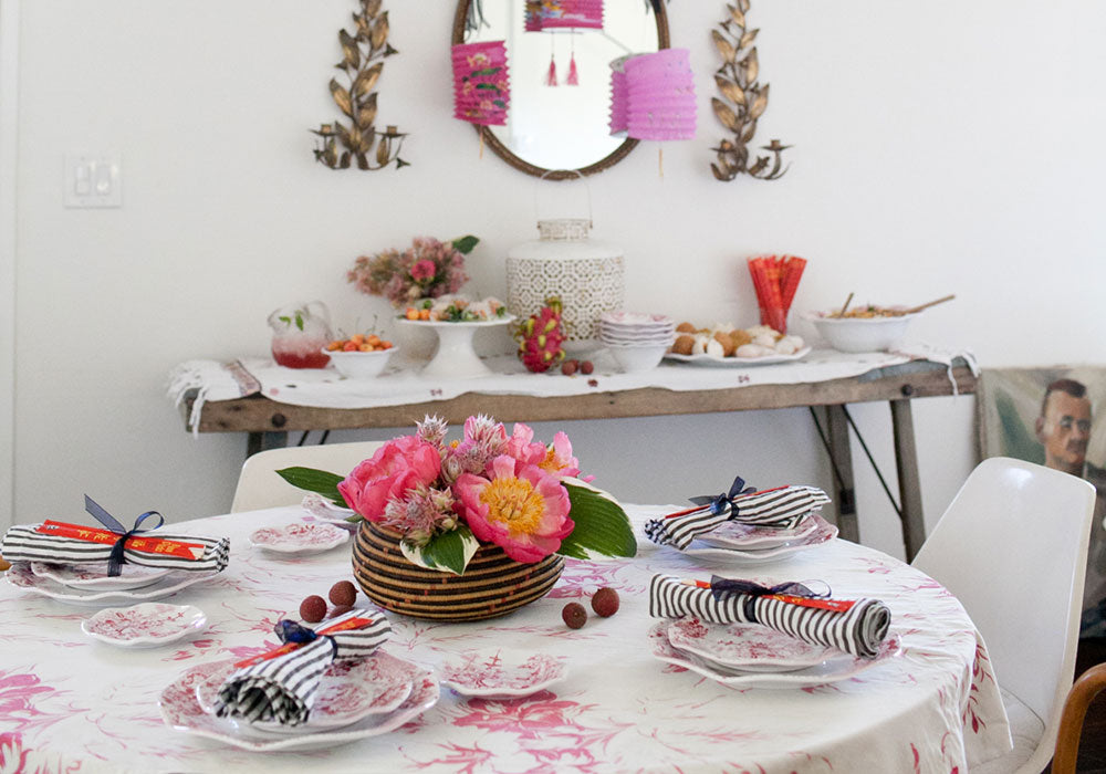 Pink Chinoiserie Party | Q Squared Melamine