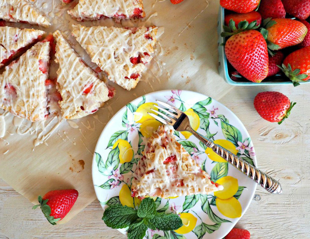 Q Squared Recipes | Strawberries and Cream Scones