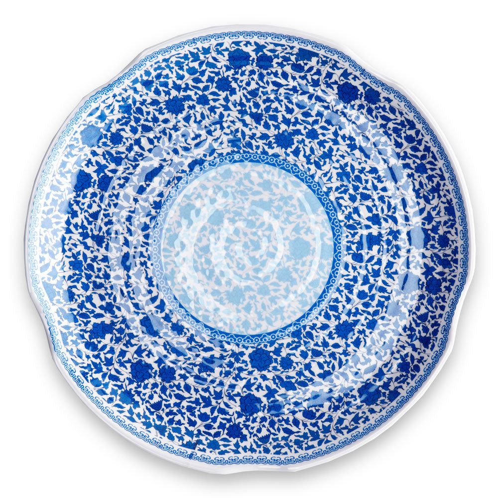 Heritage Blue Melamine Large Serving Platter