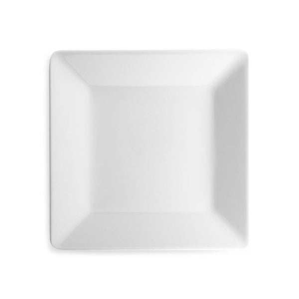 Diamond White Melamine Square Salad Plate