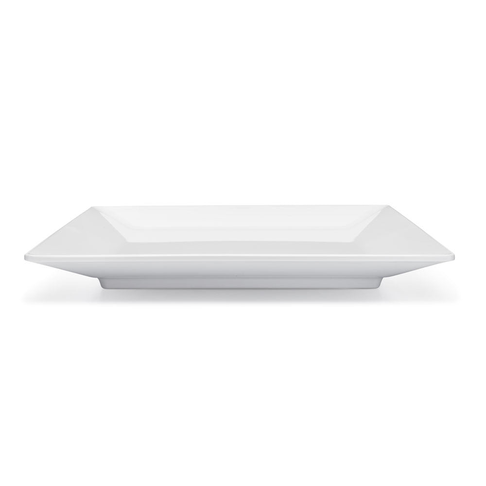 Diamond White Melamine Square Dinner Plate