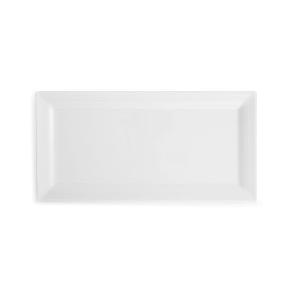 Diamond White Melamine Rectangle Small Platter