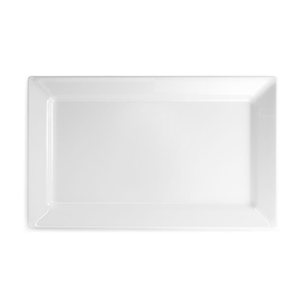 Diamond White Melamine Rectangle Large Platter