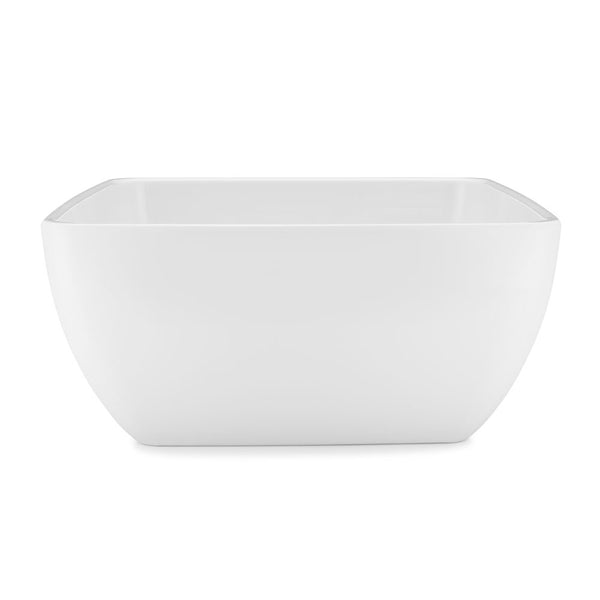 Diamond White Melamine Square Serving Bowl