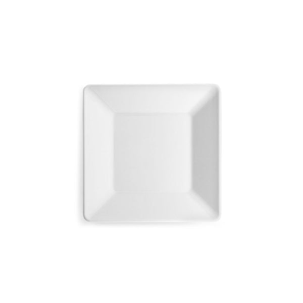 Diamond White Melamine Square Canape Plate