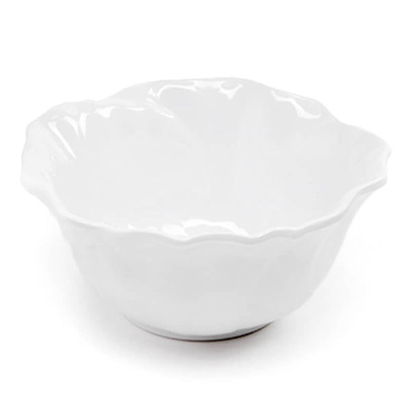Peony White Melamine Serving Bowl