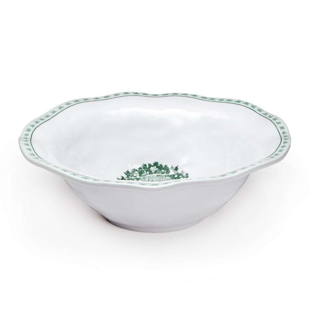 Yuletide Melamine Serving Bowl