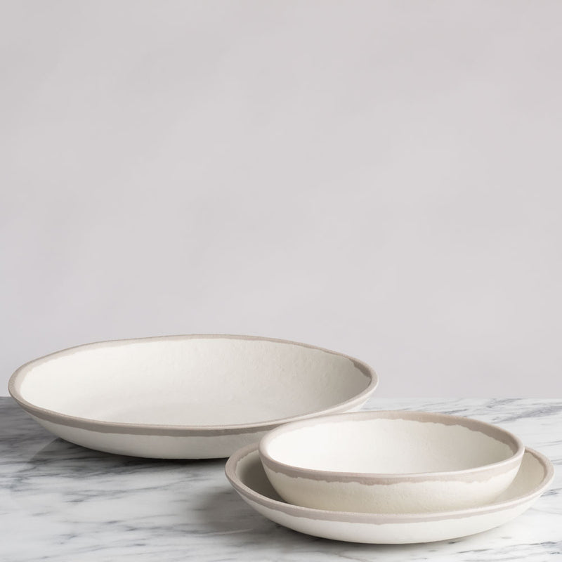 Potter Stone Gray 12pc Melaboo™ Dinnerware Set