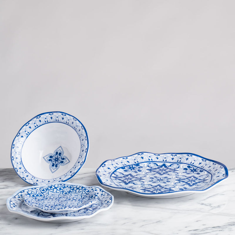Talavera in Azul Blue Melamine Cereal Bowl