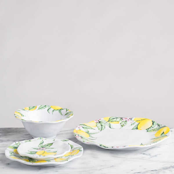 Limonata Melamine 12pc Dinnerware Set Q Squared