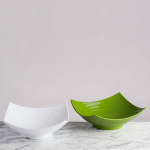 Zen White Melamine Serving Bowl