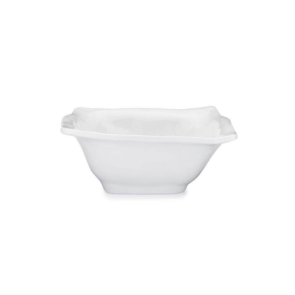 Ruffle White Melamine Square Cereal Bowl