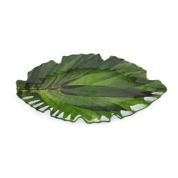 Zen Green Melamine Small Leaf Platter
