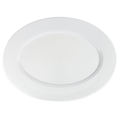 Diamond White Melamine Oval Turkey Platter