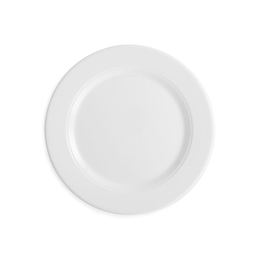 Diamond White Melamine Round Salad Plate