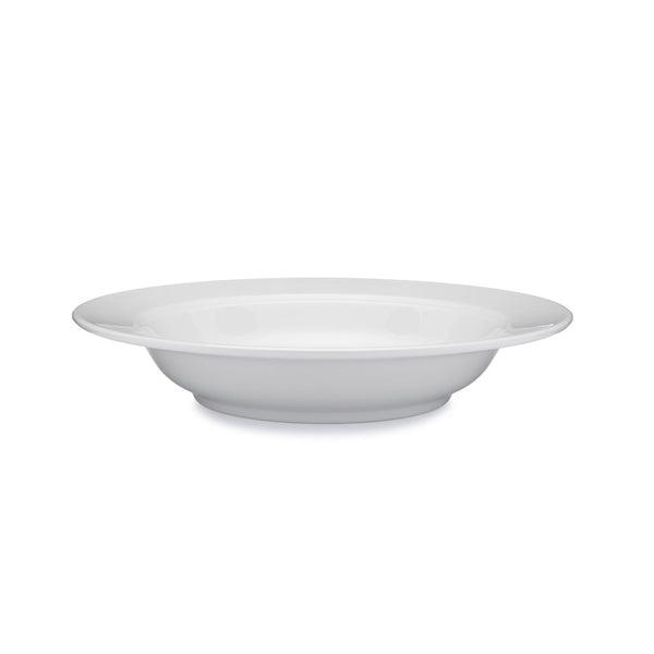 Diamond White Melamine Round Pasta Bowl