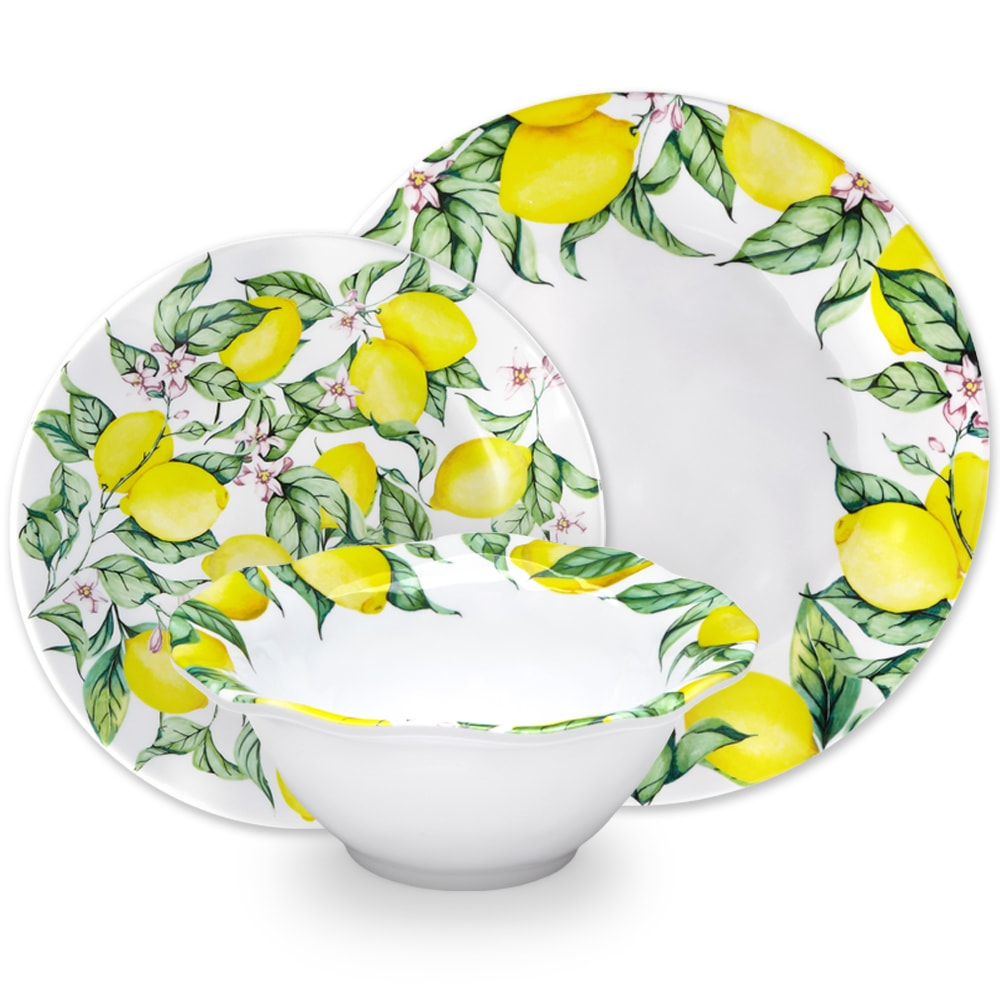 Limonata Melamine 12pc Dinnerware Set