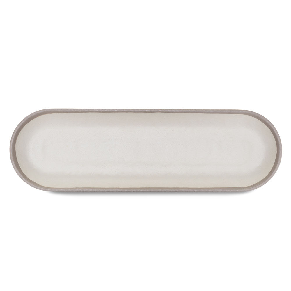 Potter Stone Gray Melaboo™ Long Oval Platter