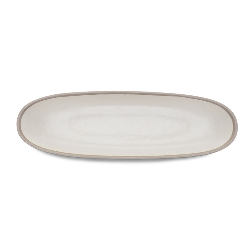 Potter Stone Gray Melaboo™ Long Oval Serving Bowl
