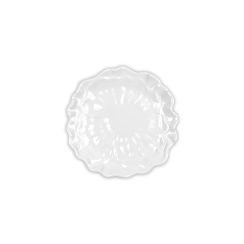 Peony White Melamine Appetizer Plate