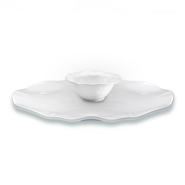 Ruffle Round 2pc Platter Serving Set