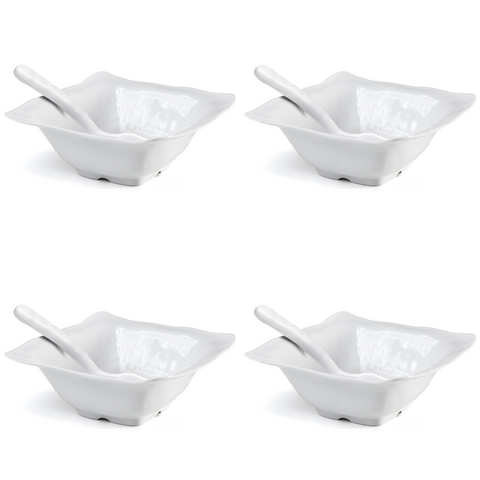 Ruffle 8pc Square Tasting Set