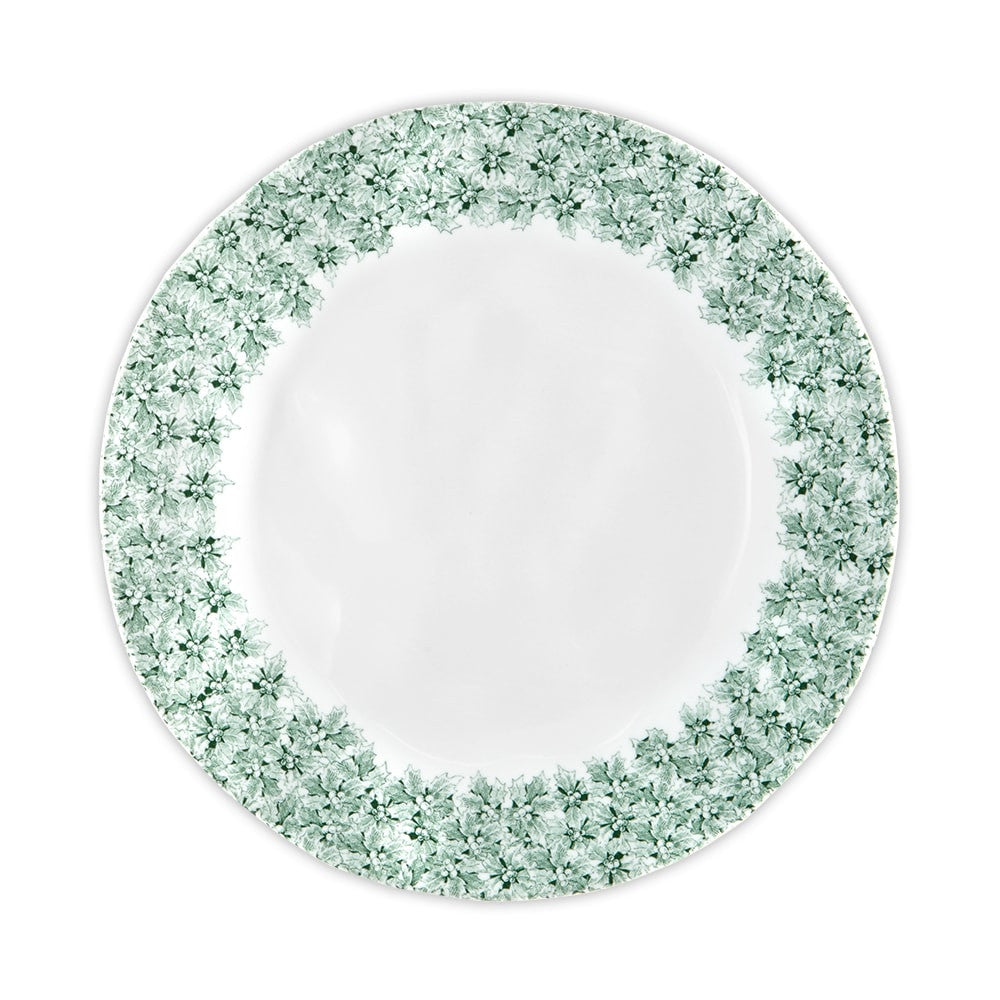 Yuletide Melamine Holly Dinner Plate