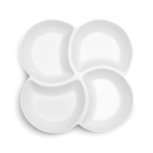 Small Clover White Melamine Serving Platter