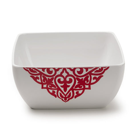 Diamond Red Square Serving Bowl