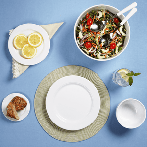 Diamond White Melamine Round Dinner Plate
