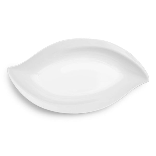 Large Petal White Melamine Serving Platter